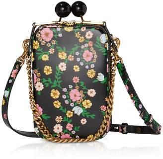 Marc Jacobs The Printed Vanity Bag Pink Cow Leather Shoulder Bag