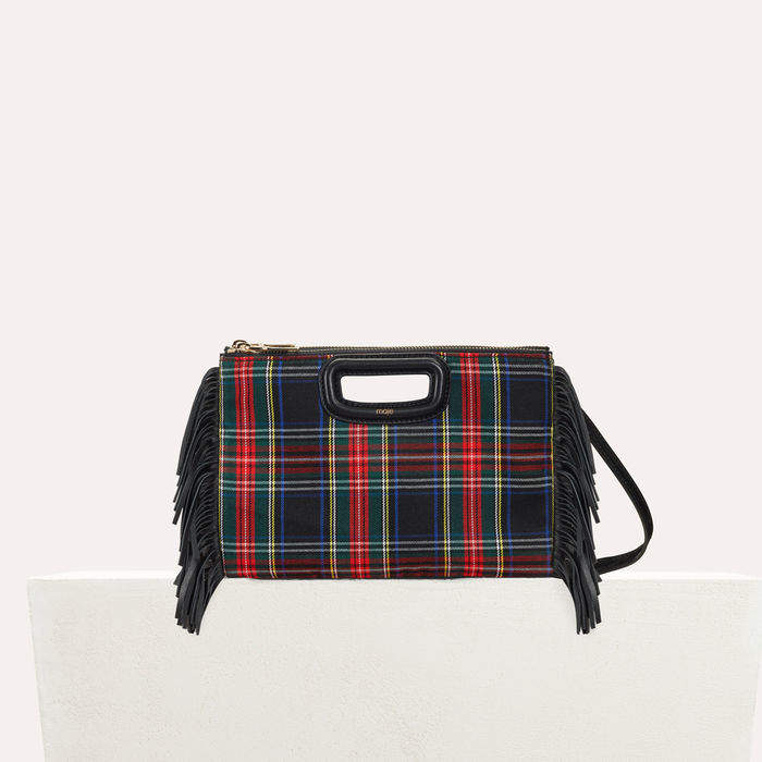 Maje M Duo clutch in patent leather