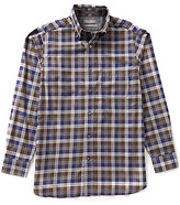 Daniel Cremieux Signature Big & Tall Long-Sleeve Heather Check Woven Shirt