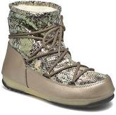 Moon Boot Women's We Low Snake Trainers in Green