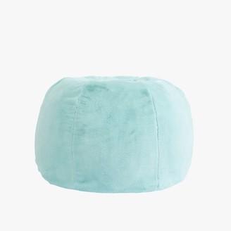 Pottery Barn Teen Faux-Fur Aqua Bean Bag Chair