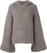 See by Chloe ribbed hooded jumper