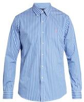 Polo Ralph Lauren Button-cuff bengal-striped cotton shirt