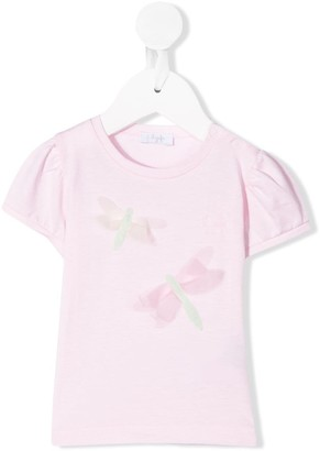 Il Gufo dragonfly embroidered T-shirt
