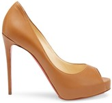 Christian Louboutin New Very Prive 120 Leather Peep Toe Pumps