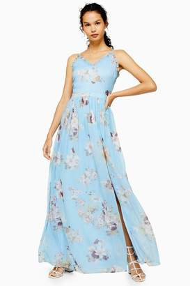 Womens **Blue Maxi Dress By Lace & Beads - Blue