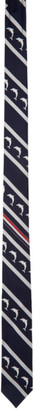 Thom Browne Navy Dolphin Icon Classic Tie