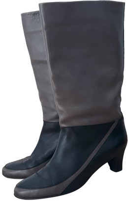 Bally Grey Leather Boots