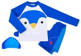Ozkiz Boys Penguin Rash Guard Shirts Pants