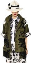 Antonio Marras Embroidered Cotton Canvas & Lace Jacket