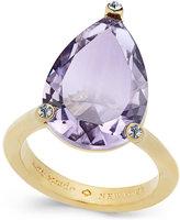 Kate Spade Hidden Gems Gold-Tone Geometric Crystal Ring
