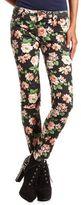 Charlotte Russe Floral Print Skinny Jean
