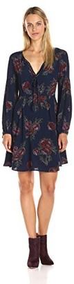 ASTR the Label Women's Ethle Floral Print Long Sleeve Dress
