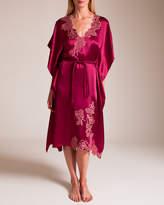 Carine Gilson Roses Silk Satin Kaftan