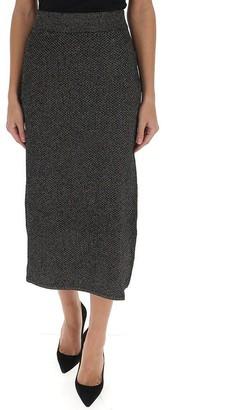 Kenzo Metallic Knitted Skirt