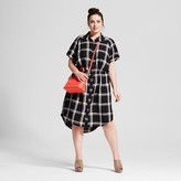 Ava & Viv Women's Plus Size Plaid Short Sleeve Shirtdress