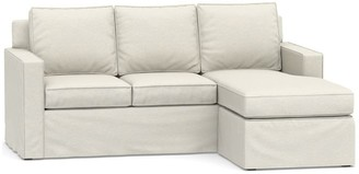 Pottery Barn Cameron Square Arm Slipcovered Sofa with Reversible Chaise Sectional