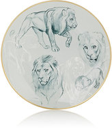 Hermes Carnets D'Equateur Lion-Illustrated Dessert Plate