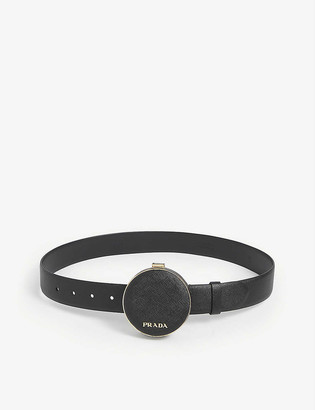 Prada Logo-adorned leather belt bag