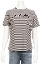 SANDRINE ROSE Love Me Vintage Stripe Crew Tee