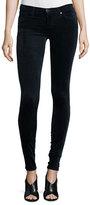 AG Adriano Goldschmied The Legging Velvet Skinny Jeans, Blue Night