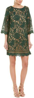 Champagne & Strawberry Lace Shift Dress