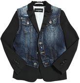 DSQUARED2 Wool & Stretch Denim Jacket