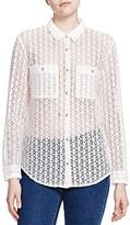 The Kooples Sheer Lace Shirt