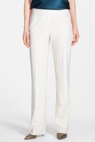 Lafayette 148 New York Wool Blend Wide Leg Trouser (Petite)