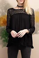 Easel Girly Lace Tunic