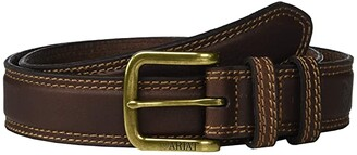 Ariat Classic Belt w/ Double Keepers (Brown) Men's Belts