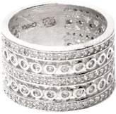 Rivka Friedman Women's Rhodium Wide Band Ring