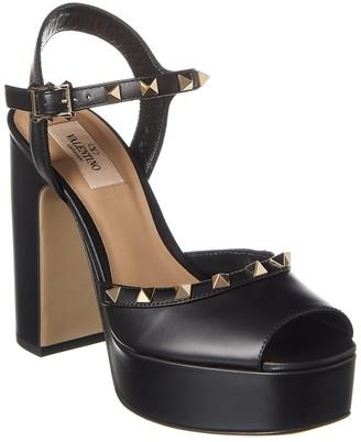 Valentino Rockstud 115 Leather Platform Sandal