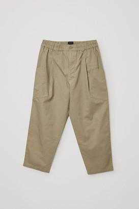 Cos Organic Cotton-Hemp Mix Angled Pocket Trousers