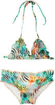 Luli Fama Girls' Embellished Triangle Bikini Set