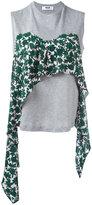 MSGM draped detail tank - women - Cotton - S
