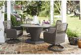 Paula Deen Home Dogwood 5 Piece Sunbrella Dining Set with Cushions Home Fabric: Cast Ash