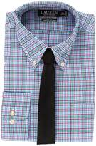 Lauren Ralph Lauren Non Iron Poplin Slim Button Down Collar Plaid Dress Shirt Men's Clothing
