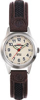 Timex Expedition Field Metal Womens Brown Leather Strap Watch T411819J
