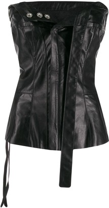 Unravel Project leather corset top