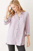 J. Jill Striped Button-Front Shirt