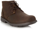 Caterpillar Brown Leather Ankle Boots