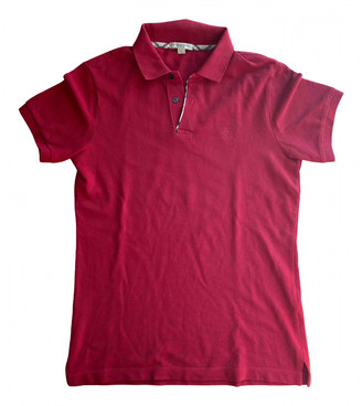 Burberry Red Cotton Polo shirts