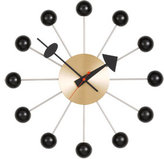 Vitra George Nelson Ball Wall Clock in Black