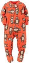 Carter's Little Boys' 1-Piece Footed Fleece PJs (, bear)