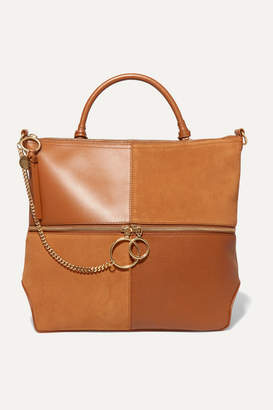 See by Chloe Emy Leather And Suede Shoulder Bag - Tan