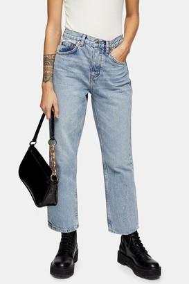 Topshop PETITE Bleach Wash Jeans