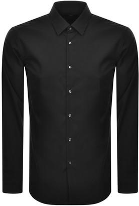 Boss Business BOSS Isko Slim Fit Long Sleeve Shirt Black