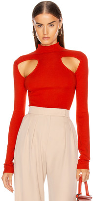 Dion Lee Merino Cut Out Skivvy Top in Poppy | FWRD