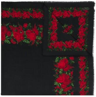 Yves Saint Laurent Pre-Owned Rose Print Scarf